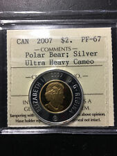 2007 Canada 'Polar Bear' 'Frosted Proof' Silver 2 Dollar Coin - ICCS PF-67 UHC