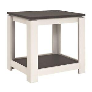 Beistelltisch granitoptik-weiß Tisch Nachttisch Wohnzimmertisch 50x50cm 142579