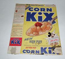 1955 KIX Cereal Box w/ Disneyland Park Lightup #7 Giraffes