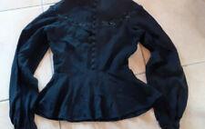Vêtement ancien : Haut féminin vintage - noir - crêpe