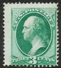 """US Sc# 136 *UNUSED RG* { HUGE 3c WASHINGTON } NICE """"GRILL"""" FROM 1870-71 SERIES"""