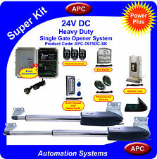 APC Heavy Duty Double Swing DC Powered Gate Opener System Super Kit
