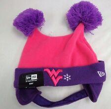 West Virginia Mountaineers Kids Girls New Era Double Bunny Hat