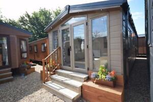 NEW Sunrise Micro Lodge 33x12   2 bed Mobile Home   Winterised Log Cabin