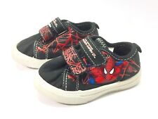 Marvel Spiderman Toddlers Boys Sneakers Size 6 Black Red