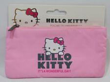 HELLO KITTY trousse / pochette 18x9.5 cm rose clair it's a wonderful day neuf