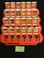 GUESS WHO?2004 by m b games SPARE PARTS ~ 1 COMPLETE RED BOARD & CARDS, LIST 470