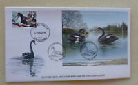 2015 NEW ZEALAND HABITAT SWANS MINI SHEET FDC FIRST DAY COVER