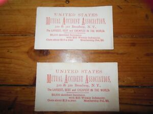 2  /  1920s - 1940s Adv. Ink Blotter MUTUAL ACCIDENT ASSOCIATION, New York, NY