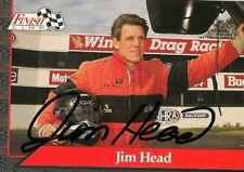 Jim Head FINISH LINE 1993 WINSTON TOP FUEL DRIVER NHRA autographed card
