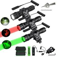 Zoomable Weapon Tactical Light 300Yard Flashlight Torch LED Picatinny Offset Red