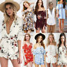 Women Holiday Mini Playsuit Casual Jumpsuit Summer Beach Shorts Sun Dress Romper