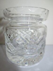 LEAD CRYSTAL CUT GLASS JAM JAR / PRESERVE STORAGE POT