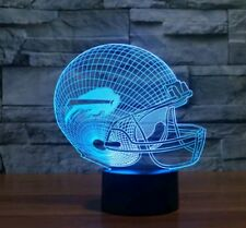 3D Bills Helmet 7 Color Change Touch Switch Lamp LED Night Lighting Xmas Gift