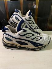 Nike Air Butane Max Vintage Leather Sneakers 1999 Mens Size 9 White Blue