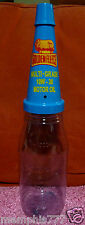 Golden Fleece Blue Pourer Top 1 Litre Plastic Oil Bottle with Dust Cap Repro
