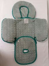 Infant Baby Car Seat Body Support Insert Reversible Padding Gray Nuby