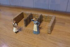 Schleich 42031 Rare Medieval Knights wicker stalls missing roof figures