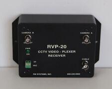 Fm Systems Inc. Rvp-20 Cctv Video Plexer Receiver