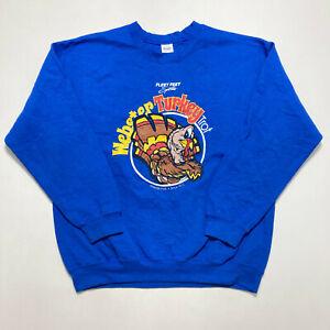 Webster Park Mens Sweatshirt Blue Graphic Crew Neck Jumper Size L