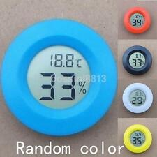 Mini LCD Digital Thermometer Hygrometer Fridge Temperature Humidity Meter Round