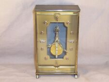 Rare LeCoultre Table Clock w/ 8 day Baguette Skeleton Movement Art Deco Design