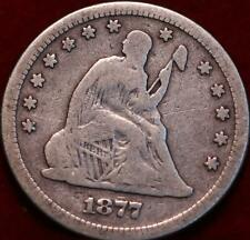 1877-S San Francisco Mint Silver Seated Liberty Quarter