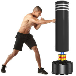 Large 5.7ft Boxing Free Standing Punch Bag Stand MMA Martial Arts Punching Kick