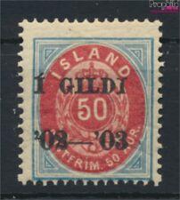 Islande 33A neuf avec gomme originale 1902 émision de surcharge (9077394
