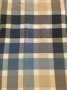 Pottery Barn Teen Blue Tan Plaid  Duvet Comforter Cover 100% Cotton Twin
