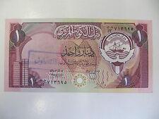 Kuwait Banknote 1 Dinar P.13 Unc (Gulf War) Stolen and with MOD handstamp