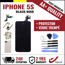 AA+ LCD SCREEN SCHERM ÉCRAN ASSEMBLY BLACK NOIR+TOOL&VERRE TREMPÉ FOR IPHONE 5S