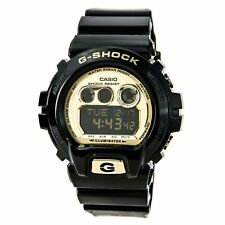 Casio Men's Watch G-Shock Gold Tone Black Digital Dial Resin Strap GDX6900FB-1