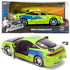 FAST AND FURIOUS JADA 1:24 BRIAN'S 1995 MITSUBISHI ECLIPSE GREEN VEHICLE CAR TOY