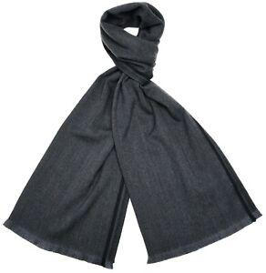Tom Ford Scarf Wool Gray Herringbone 14SF0103 $450