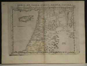 ISRAEL HOLY LAND MIDDLE EAST CYPRUS 1564 PTOLEMY & RUSCELLI UNUSUAL ANTIQUE MAP
