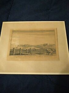 C1791 S.Hill Engraving View of  town of Boston from Breed's Hill in Charlestown