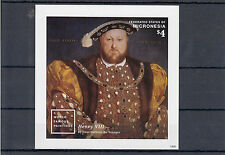 Micronesia 2014 MNH World Famous Paintings 1v Imperf S/S Henry VIII Hans Holbein