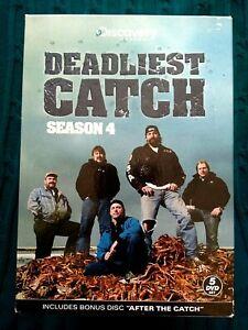 DEADLIEST CATCH - SEASON 4 – DVD, 5-DISC BOX SET- R-1, LIKE NEW, FREE POST