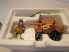 Dept 56 Dickens Village Accessory Chelsea Market Fruit Monger And Cart 5813-0