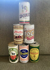 New listing Vintage Steel Beer Cans- Black Horse, Red Cap, Reading etc. Lot of Six Empty