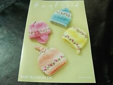 Hayfield Baby Blossom Double Knitting Baby Hats Pattern 4839