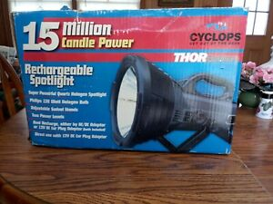 Cyclops Thor Colossus 15 Million Candle Power Rechargeable Halogen Spotlight 1