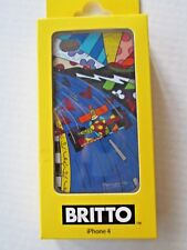 BRITTO RACE CAR iPhone 4 Cover Glossy Hard Shell Pop Art