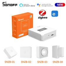 SONOFF ZIGBEE Smart Gateway HUB Haus Sicherheit Alarm Sensor eWelink APP f Alexa