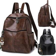 Womens Travel Rucksack Shoulder Bags Travel Leather Handbag College Backpack New