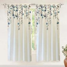 Driftaway Isabella Faux Silk Embroidered Window Curtain, Embroidered Crafted Flo