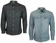 Mens Denim Shirts Wrangler Blue Colours All Sizes S to 3XL