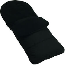 Footmuff / Cosy Toes Compatible With Hauck Pushchair Black Jack