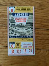 1968 World Series, Game 6 Ticket, St. Louis Cardinals vs. Detroit Tigers